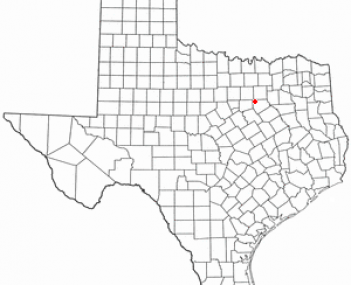 Location of Midlothian, Texas
