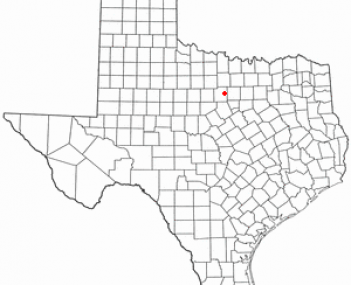 Location of MineralWells, Texas