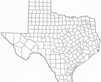 Location of Port Arthur, Texas