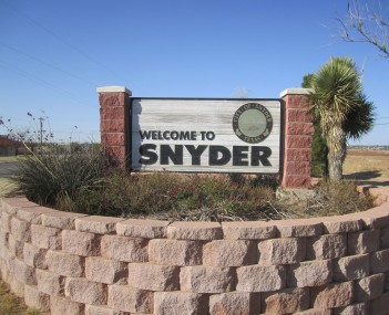 Location of Snyder, Texas