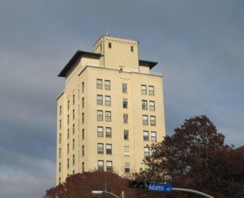 Kyle Hotel, a former hotel-turned-apartment building, at 111 Main Street in December 2009
