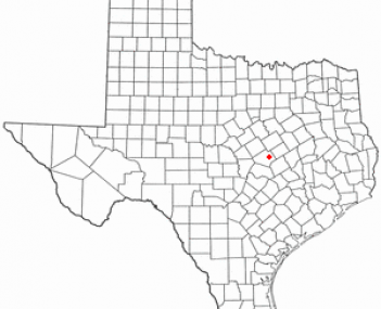 Location of Temple, Texas