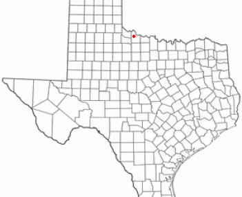 Location of Vernon, Texas