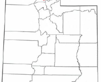 Location of Ogden, Utah