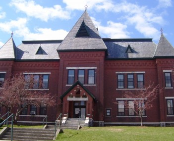 The Gothic Revival Municipal Center , built as Brattleboro's High School, served the town in that capacity until 1951