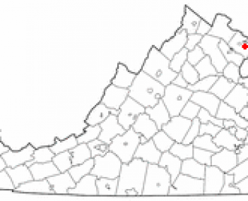 Location of Annandale, Virginia