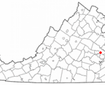 Location of Mechanicsville, Virginia