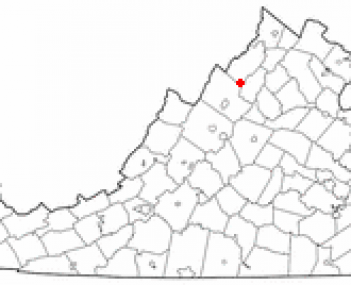 Location of New Market, Virginia