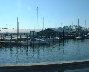 Boats parked at the Poquoson Marina.  Boating has been an important part of Poquoson's economy since its inception.