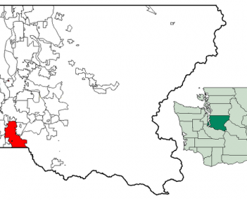 Location of Auburn, Washington