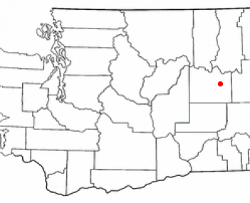 Location of Davenport, Washington