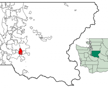 Location of Maple Valley within King County, Washington, and King County within Washington
