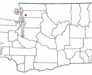 Location of Mount Vernon in Washington State