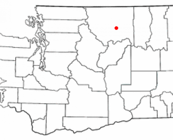 Location of Omak, Washington
