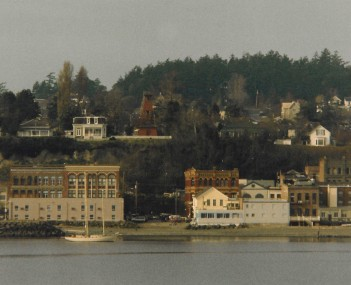 The heart of downtown Port Townsend, seen from the water