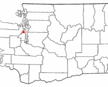 Location of Poulsbo, Washington