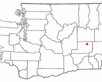 Location of Ritzville, Washington