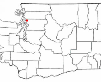 Location of Stanwood, Washington