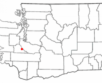 Location of Yelm, Washington