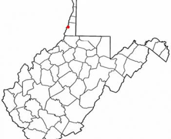 Location of Moundsville, West Virginia