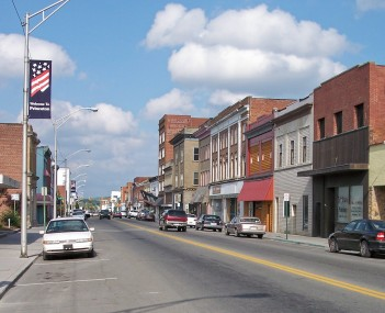 Mercer Street  in downtown Princeton in 2007