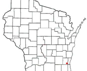 Location of Germantown, Wisconsin