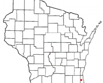 Location of Greenfield, Milwaukee County, Wisconsin