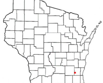Location of Hartford, Wisconsin, Wisconsin