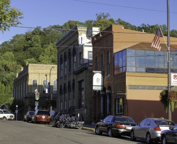 Historic architecture in downtown Hudson, September 2010