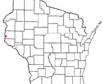 Location of Hudson, Wisconsin
