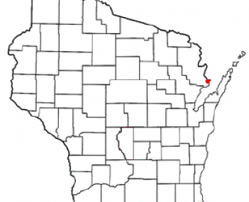Location of Marinette, Wisconsin