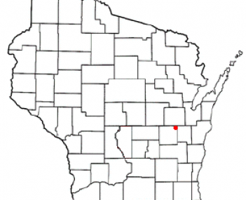 Location of Town of Menasha, Wisconsin
