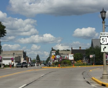 Entering downtown CDP Minocqua