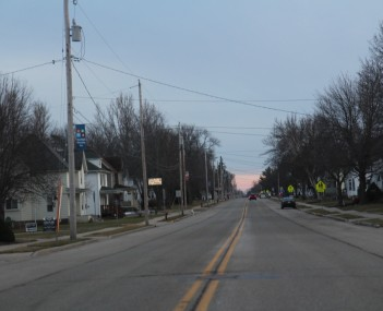 Looking south in Randolph on WIS 73