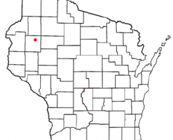 Location of Rice Lake in Barron County, Wisconsin
