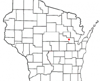 Location of Shawano, Wisconsin