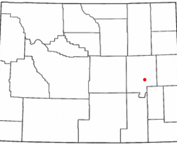 Location of Douglas, Wyoming
